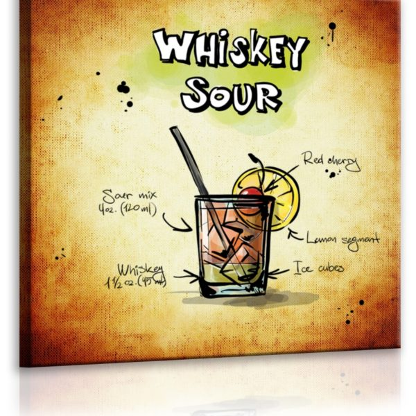 Obraz cedule Whiskey Sour